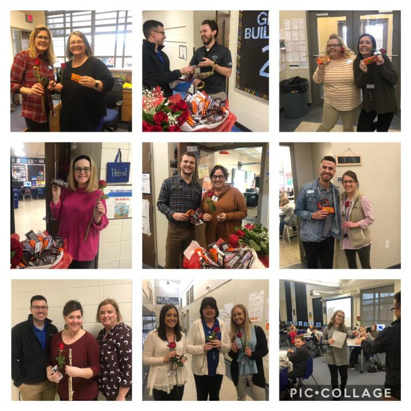 Mr. Bennett & Mrs. Atkinson celebrated staff today and their