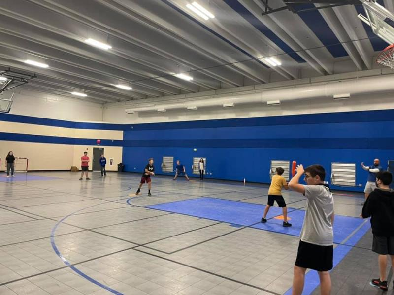 Fun in Coach Moreland's PE class while working on motor skills and movement patterns!