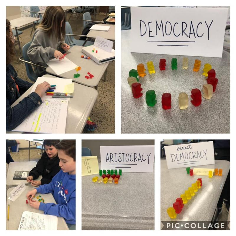 Ms. Anderson's class enjoyed a Surprise & Delight in a Greece simulation using Gummy Bears.