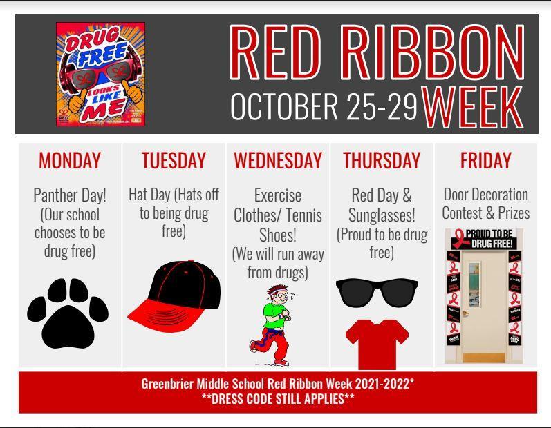 GMS Red Ribbon Week Oct. 25-29