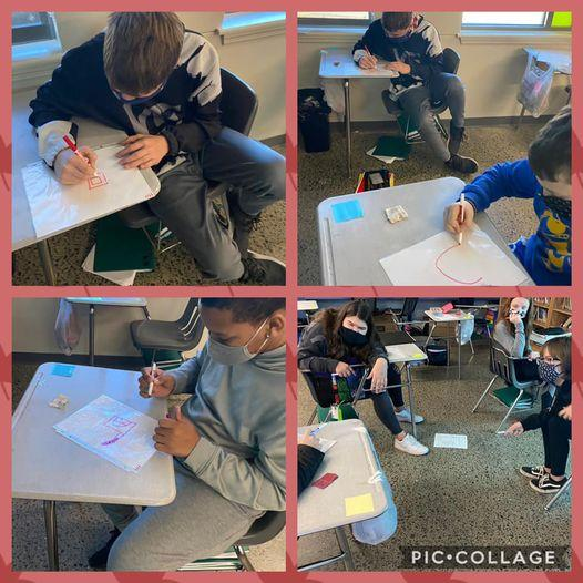 7th grade literacy students enjoyed playing Pictionary to learn about symbolism.