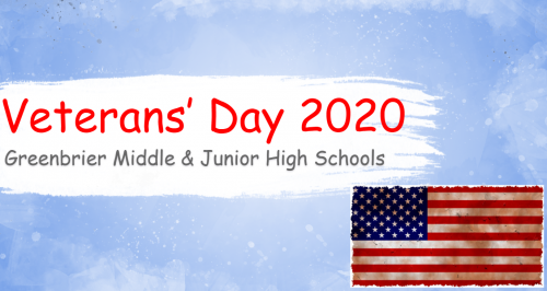 GMS & GJHS would like to say THANK YOU to all of our Veterans for their service!
