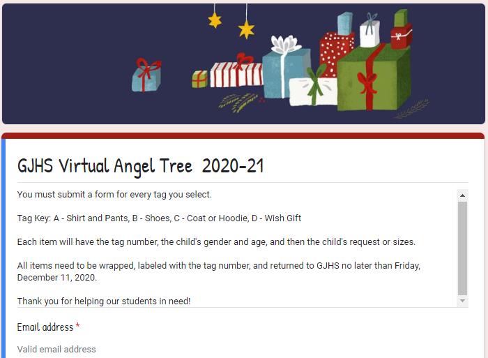 GJHS Virtual Angel Tree