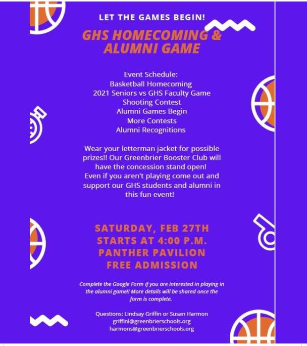 Homecoming and Alumni Game