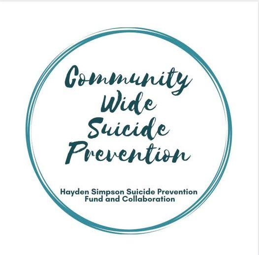 Community Wide Suicide Prevention Walk -has been RESCHEDULED for May 1st.