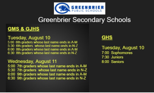 2021-2022 GJHS Orientation Details