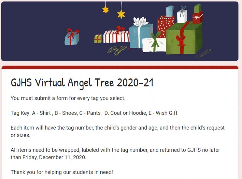 GJHS ANGEL TREE INFORMATION