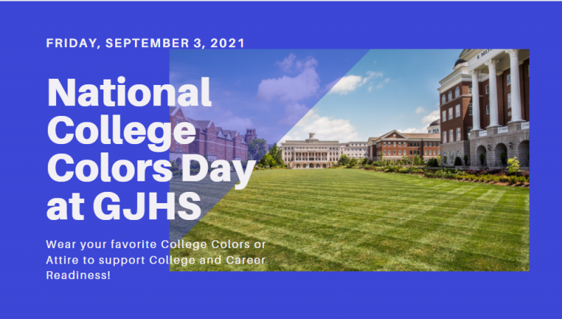 College Colors Day coming up, Sept. 3rd!