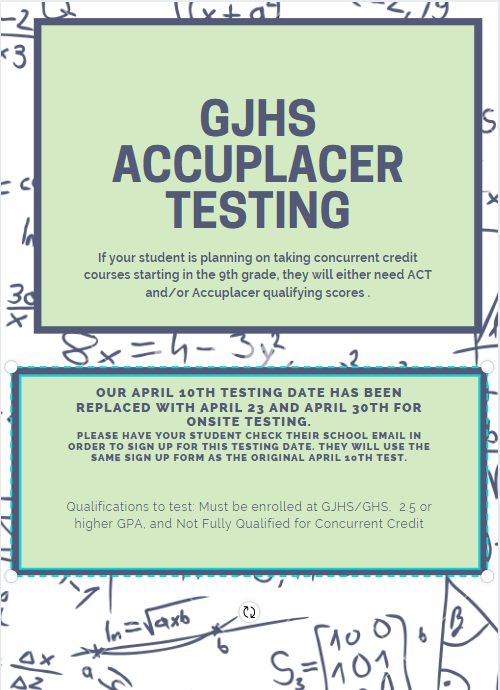 Accuplacer Testing Date Set!