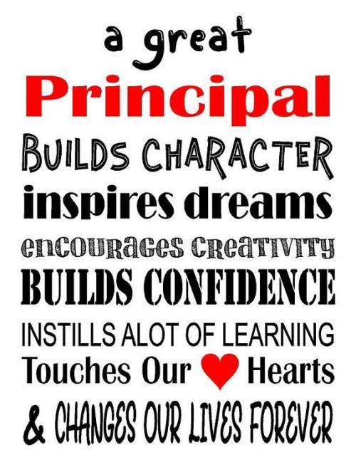 Happy National School Principal's Day!