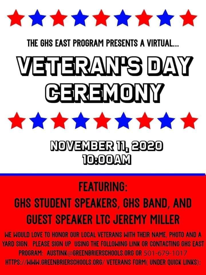 GHS Veteran's Day Ceremony