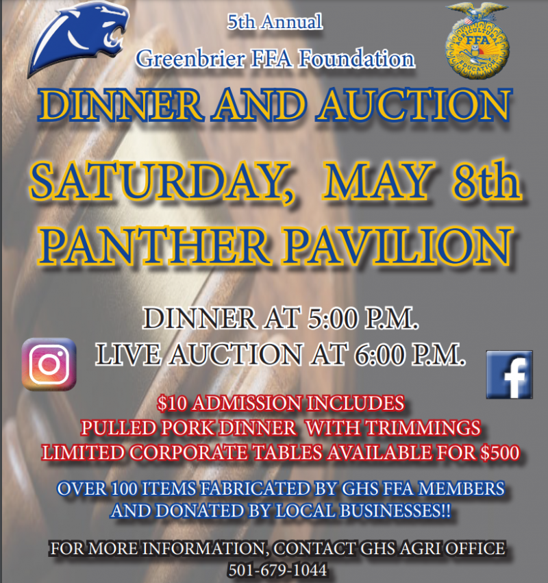Greenbrier FFA Dinner and Auction