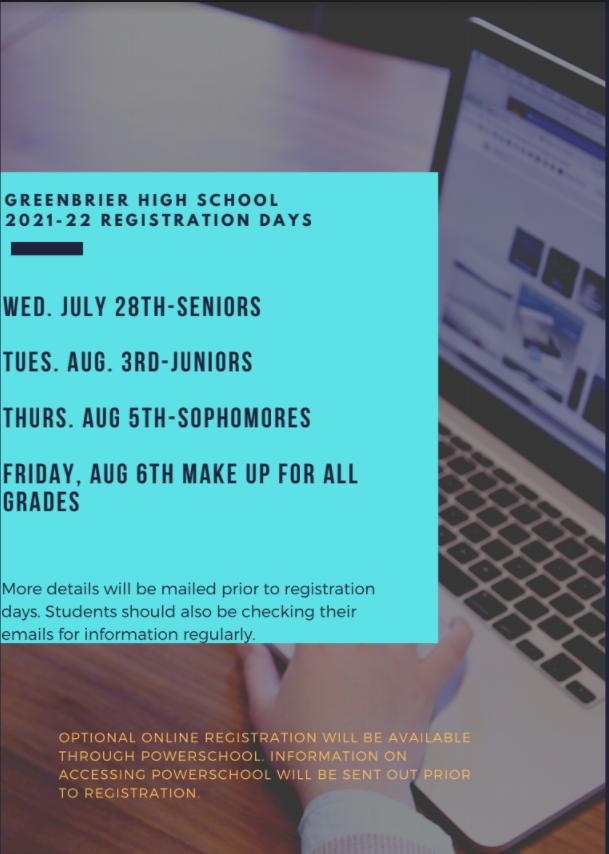 GHS Registration Days Announced