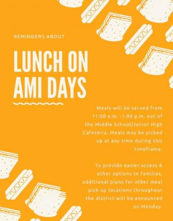 AMI Lunch Information