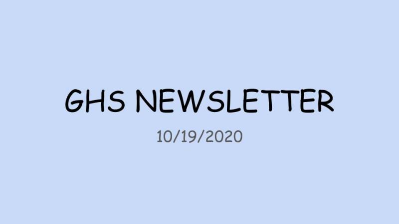 GHS Weekly Parent Letter