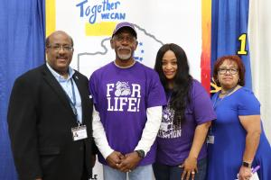Supt. Darwan Lazard, Support Personnel of the Year Mike Anderson, Principal Melanie Moore (VPHS), Sherral Tezeno(CO)