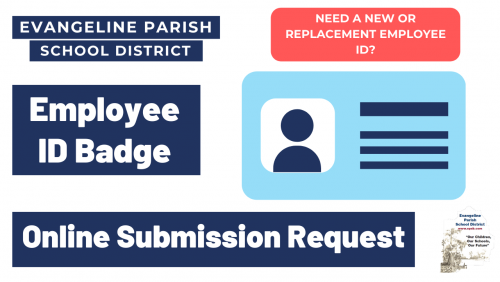 Employee ID Badge Online Submission Request image with link to form