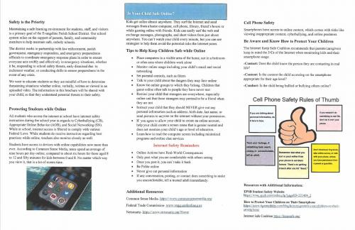 Image Emergency Reporting Procedures Brochure pg2 with link to actual document.