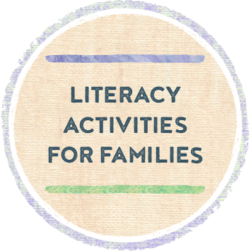 Literacy Activities For Families icon with link to resources