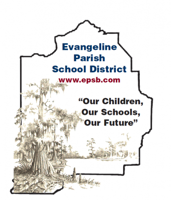 Evangeline Parish School Board Logo with Cypress Tree