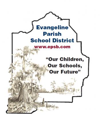Evangeline Parish School Board Logo with Cypress Tree