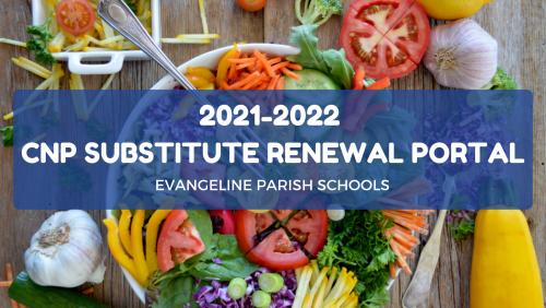 2021-2022 CNP Substitute Renewal Portal Banner