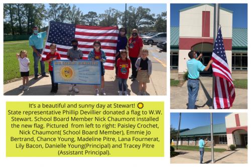 W.W. Stewart Flag Donation Photo
