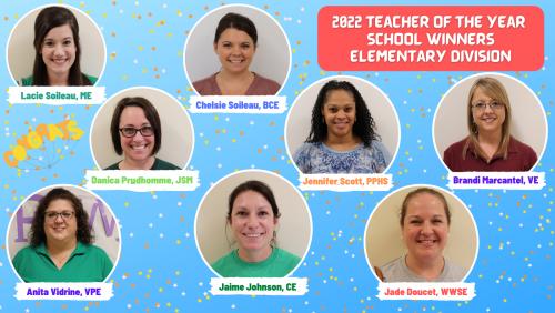 2022 Elementary Teacher of the Year School Winner