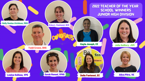 2022 Junior High Teacher of the Year School Winner