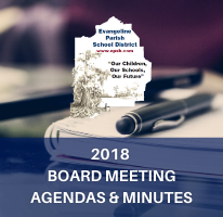 2018 Board Meeting Agendas & Minutes Image with Link to documents