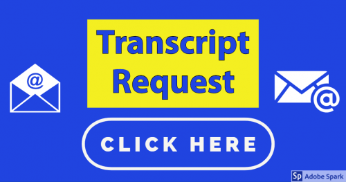 Transcript Request Logo with link to email address.