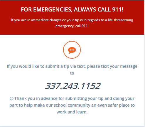 Safe Alert Text Message