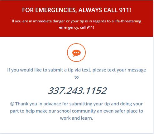 Safe Alert Text Message