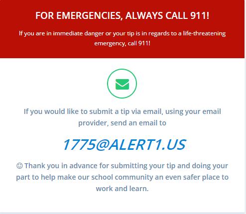 Safe Alert Email