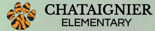 Chataignier Elementary Logo with link to school's report card on louisianaschools,com