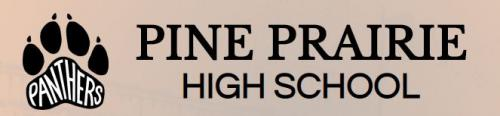 Pine Prairie High Logo with link to school's report card on louisianaschools.com