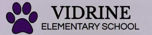 Vidrine Elementary Logo with link to school's report card on louisianaschools.com