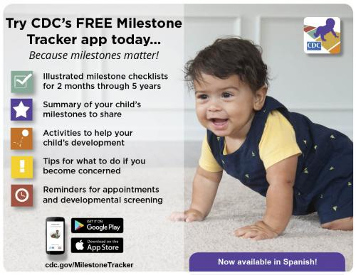 CDC's Milestone Brochure Information with link to the CDC's website.