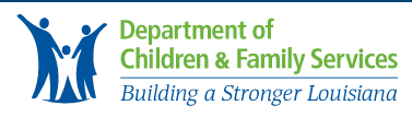 Department of Children and Family Services logo with link to website