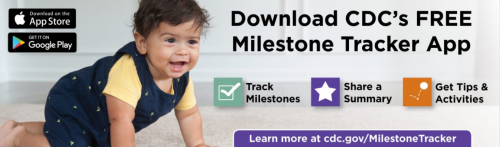 CDC's Milestone Tracker App Image will direct to download page