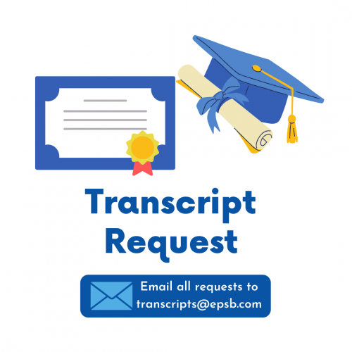 Transcript Request Image with link to open email