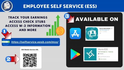 Employee Self Service Flyer with link to pdf.