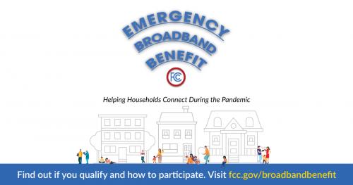 Emergency Broadband Benefit image with link to website