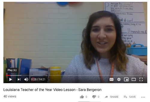 Elementary Teacher of the Year Sara Bergeron