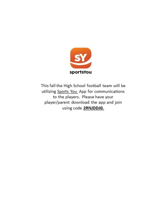 Football Coaches to use SPORTSYOU