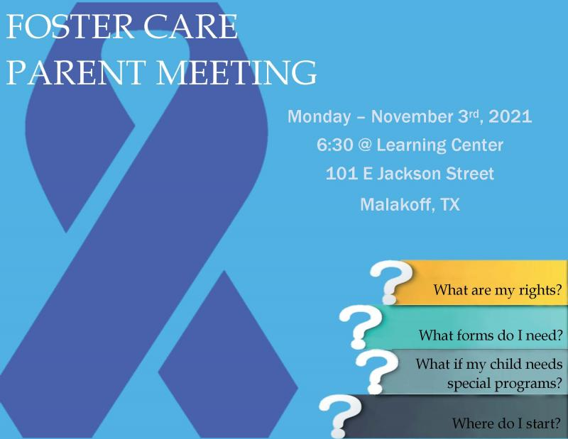 Foster Care Parent Meeting