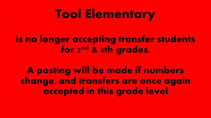 Tool Elementary Transfer for 2nd & 4th