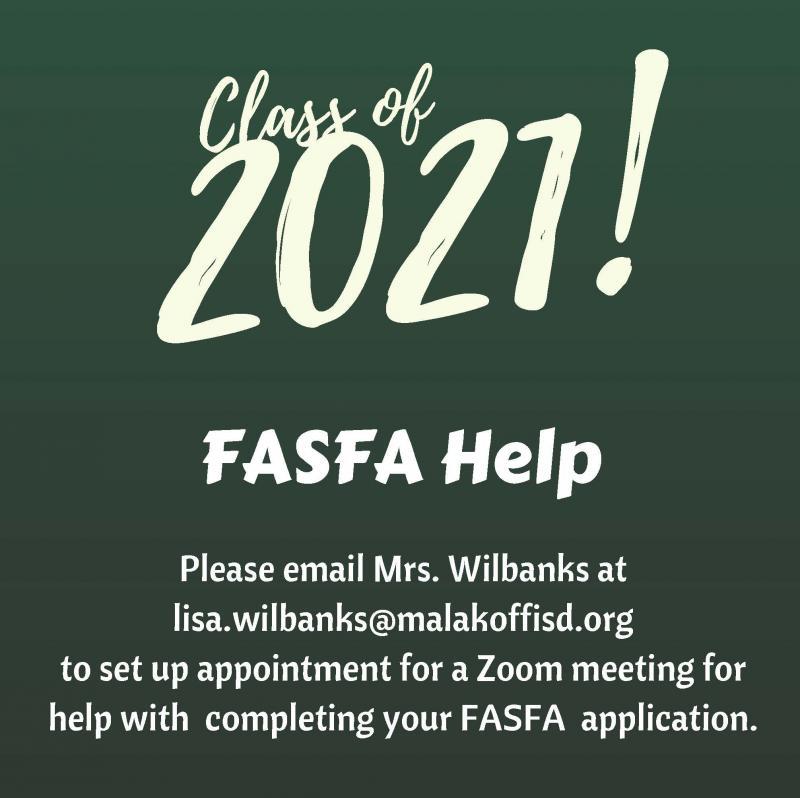 Class of 2021 FASFA Information