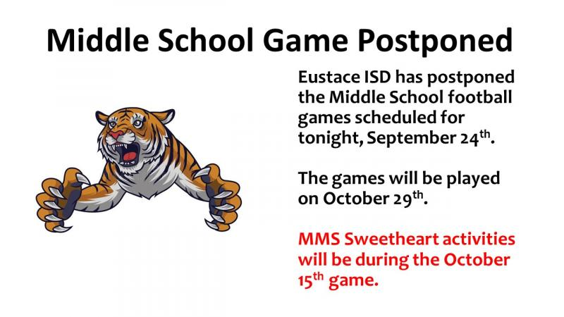 MMS Football Game Rescheduled