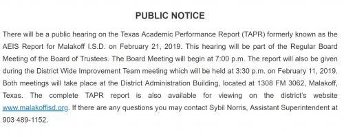 TAPR Public Notice